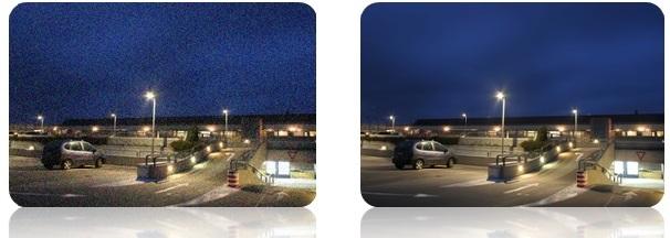 نویز تصویر در دوربین مداربسته معمولا به صورت خطوط یا موج در تصویر نمایان میگردد.